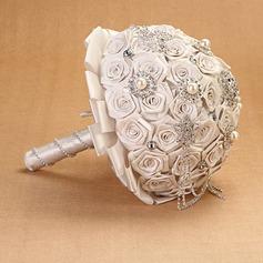Pure Round Cloth Bridal Bouquets