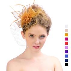 Damen Schöne Organza mit Feder Kopfschmuck