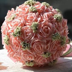 Elegante Redondo Espuma Buquês de noiva
