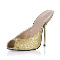 Glittrande Glitter Stilettklack Sandaler Pumps Slingbacks skor