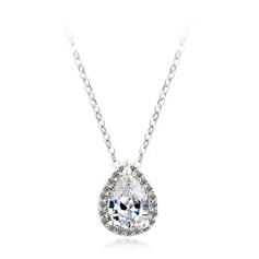 Beautiful Zircon/Platinum Plated Ladies' Necklaces (011051110)