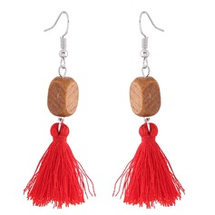 Shining Alloy Wood Fashion Earrings