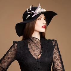 Senhoras Elegante Lã De disquetes Chapéu