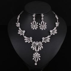 Fashional Alloy Gold Plated With Rhinestone Imitation Stones Ladies' Jewelry Sets (Set of 3)