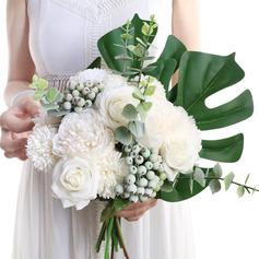 Clássico Forma livre Flor de seda Buquês de noiva - Buquês de noiva