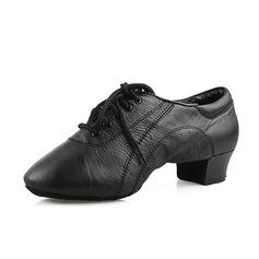 Мужская Натуральня кожа На каблуках На каблуках Латино Бальные танцы Практика Обувь для Персонала Обувь для танцев