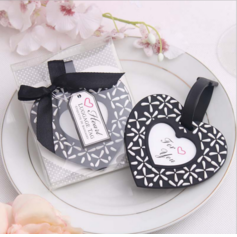 Heart Shaped Heart Shaped Plastic Luggage Tags (Sold in a single piece)