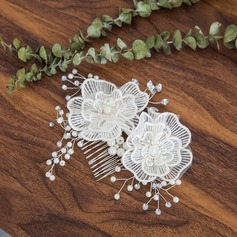 Ladies Exquisite Crystal/Imitation Pearls Combs & Barrettes