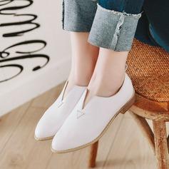 Donna PU Tacco spesso Stiletto أحذية