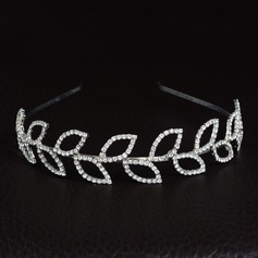 Ladies Classic Alloy Tiaras With Rhinestone (Sold in single piece)