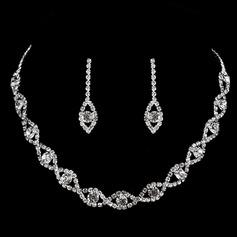 Vackra Och koppar med Strass Damer' Smycken Sets