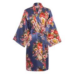 Charmeuse Bride Bridesmaid Mom Floral Robes (248155097)