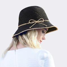 Dames Glamour/Style Classique Raphia paille avec Bowknot Chapeau de paille/Chapeaux de plage / soleil