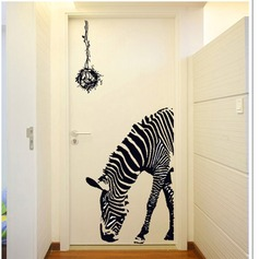 Personality creative fashion zebra wall sticker (Sold in a single piece)