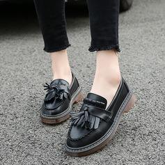 Женщины кожа Плоский каблук На плокой подошве с кисточкой обувь
