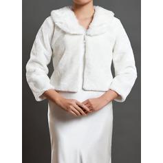 3/4-Length Sleeve Faux Fur Wedding Wrap