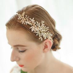 Elegante Rhinestone/Perlas de agua dulce Diademas