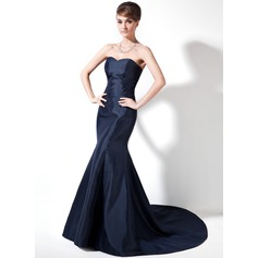 Trumpet/Mermaid Sweetheart Court Train Taffeta Mother of the Bride Dress