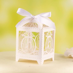 Birdcage Shape Favor Boxes With Ribbons (Set of 12)