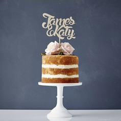 personnalisé Jeune mariée et Marié Acrylique/Bois Décoration pour gâteaux