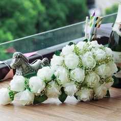 Charming Cascade Satin Bridal Bouquets