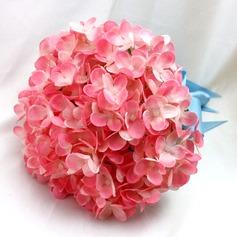 Lovely Redondo Cetim/Seda Buquês de noiva/Buquês da nama de honra -