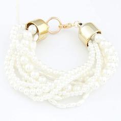 Beautiful Alloy/Pearl Ladies' Bracelets