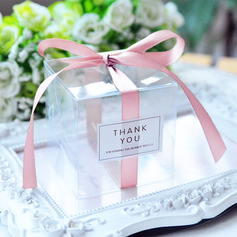 Creative/Classic Cubic Plastic Favor Boxes & Containers With Ribbons