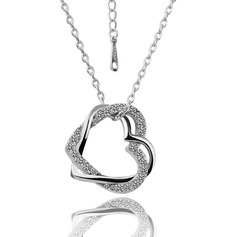 Sweet Heart Alloy/Rhinestones Ladies' Necklaces