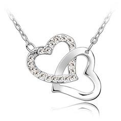 Elegant Platina med Kristall Damer' Halsband