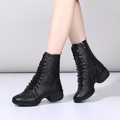 Kvinder Kunstlæder Støvler Moderne stil Jazz Sneakers Dance Boots Dansesko