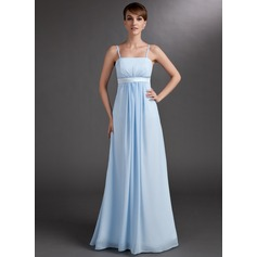 Empire Floor-Length Chiffon Maternity Bridesmaid Dress With Ruffle