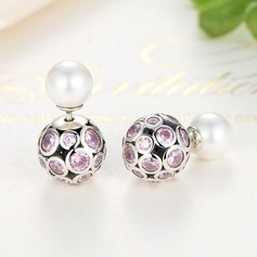Shining Silver Ladies' Fashion Earrings