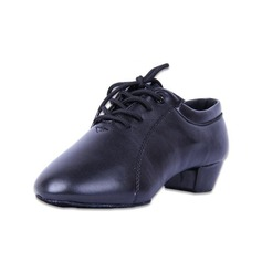 Dětské Koženka Na podpatku Latinské Taneční Trénink znakové boty S Šněrovací Taneční boty