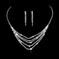 Hohe Qualität Legierung/Kupfer mit Strass Damen Schmuck Sets