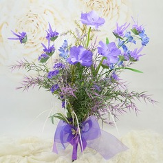"""""""Just budding"""" Free-Form Artificial Silk Bridal Bouquets"""