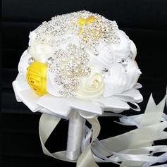 Привлекательным Круглый Атлас Свадебные букеты -