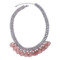 Уникальный сплав Перлы ложный акрил с Имитация Перл Женщины ожерелье