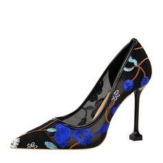 Kvinnor Mesh Stilettklack Pumps Stängt Toe med Andra skor
