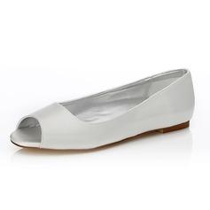 De mujer Satén Tacón plano Encaje Zapatos Que Se Pueden Teñir