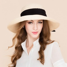 Senhoras Moda Rattan de palha Chapéu de palha/Chapéus praia / sol