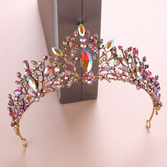 Ladies Colorful Rhinestone/Alloy Tiaras (Sold in single piece)