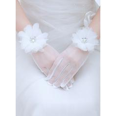 Voile Wrist Längd Handskar Bridal