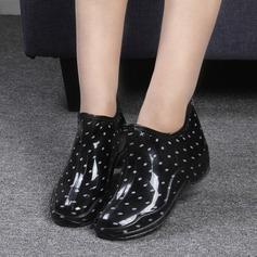 Naisten PVC Matala heel Kengät Mid-calf saappaat Kumisaappaat jossa Muut kengät