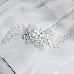 Senhoras Feito à mão Liga Pentes & presilhas com Strass/Pérola Veneziano/Imitação de cristal