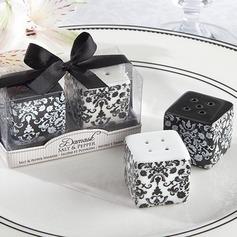 blomsterdesign Keramikk Salt & Pepper Shakere (Sett av 2 stk)
