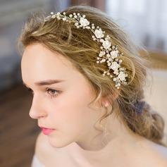 Glamorosa La perla de faux/Resina Peines y pasador/Diademas