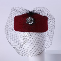 Damene ' Fin Ull med Rhinestone Stiv / Cloche Hatt/Tea Party Hats