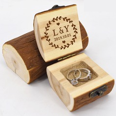 Personalized/Rustic Wood Ring Box