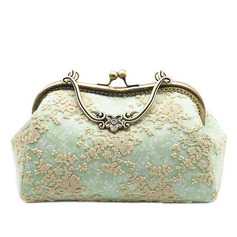 Charming Cotton Clutches/Satchel/Top Handle Bags/Bridal Purse/Evening Bags